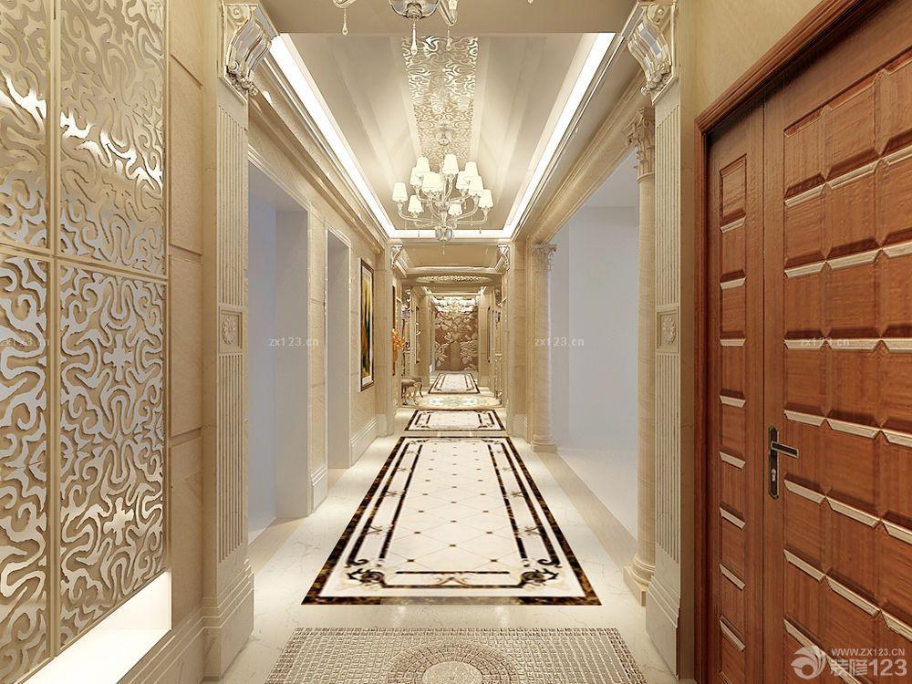 走廊装修长方形拼花贴图