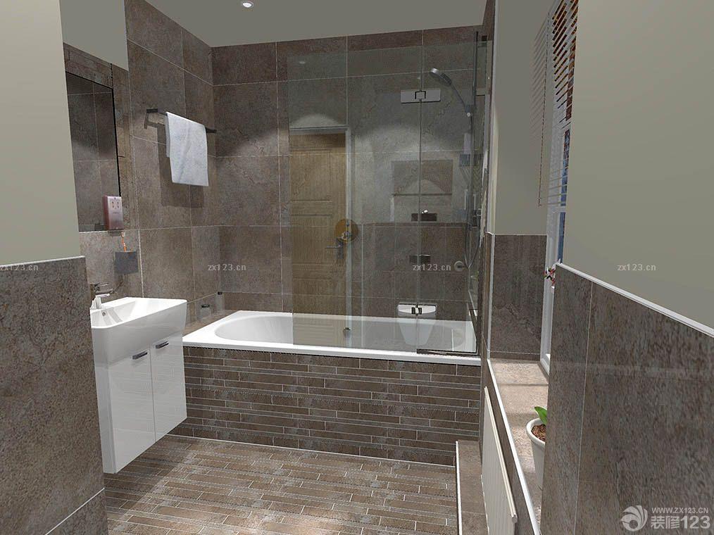 家庭卫生间花纹瓷砖装修效果图大全2015图片