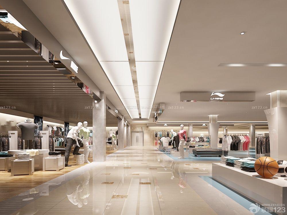 大型商场特色服装店设计图片