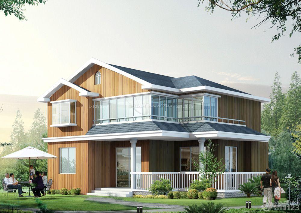 农村两层别墅瓦装修设计效果图