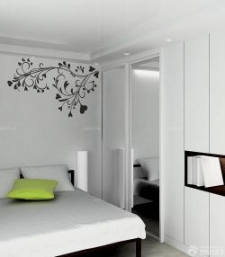 簡約風格臥室白色衣柜設計裝修效果圖片