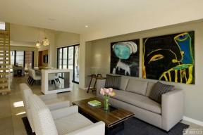 80平米房子裝修設計圖 抽象裝飾畫圖片