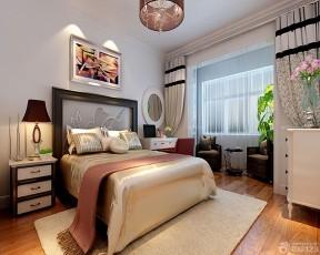80平米房子裝修設計圖 碎花形窗簾裝修效果圖片