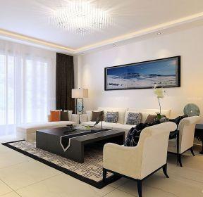 80平米房子客廳布藝沙發擺放裝修設計圖-每日推薦