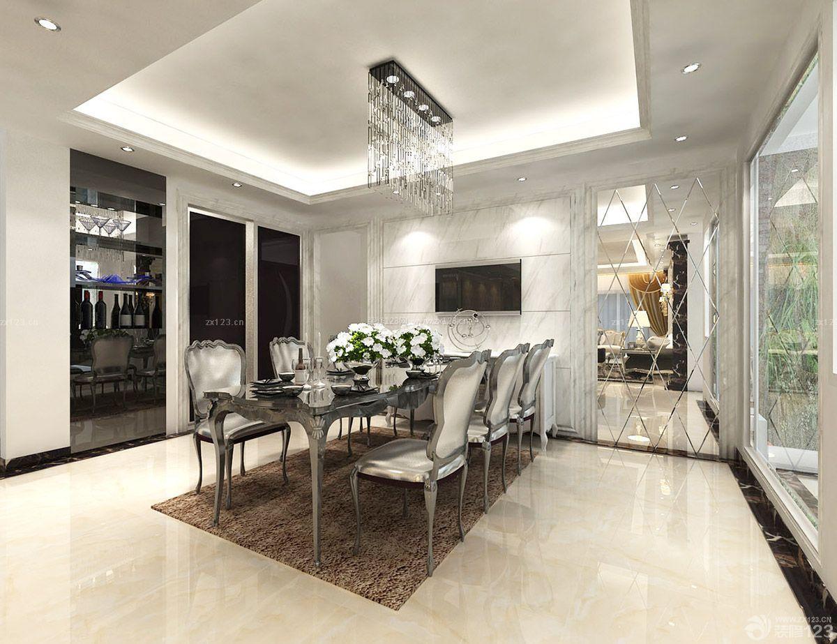 家装餐厅微晶石瓷砖背景墙设计