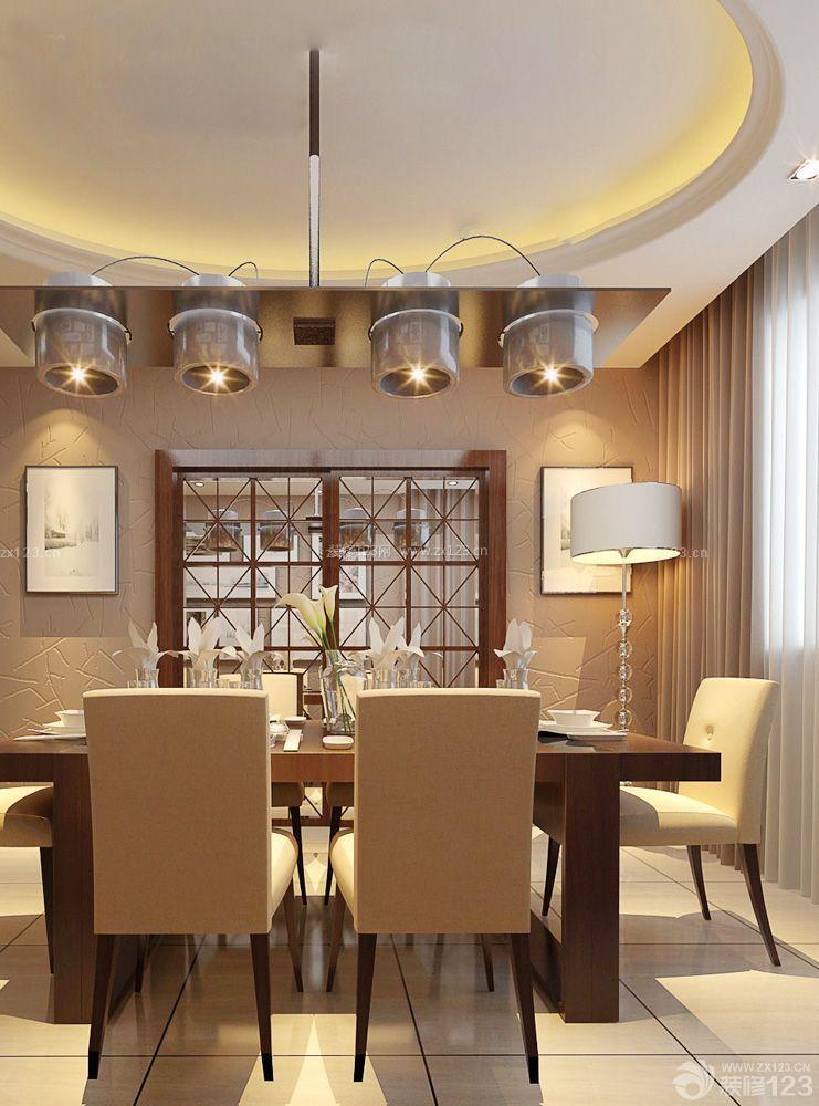 酒店餐厅石膏圆形吊顶效果图