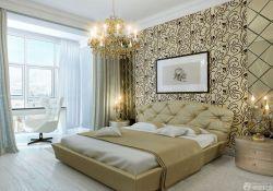 北歐風格臥室床頭背景墻裝修效果圖片