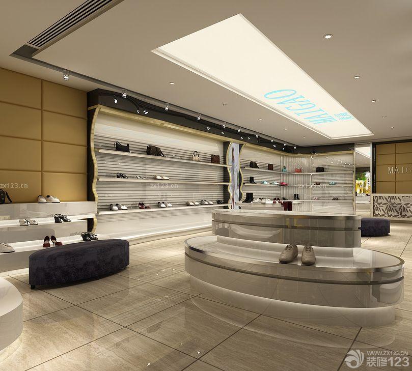 鞋店室内吊顶装修效果图2015图片