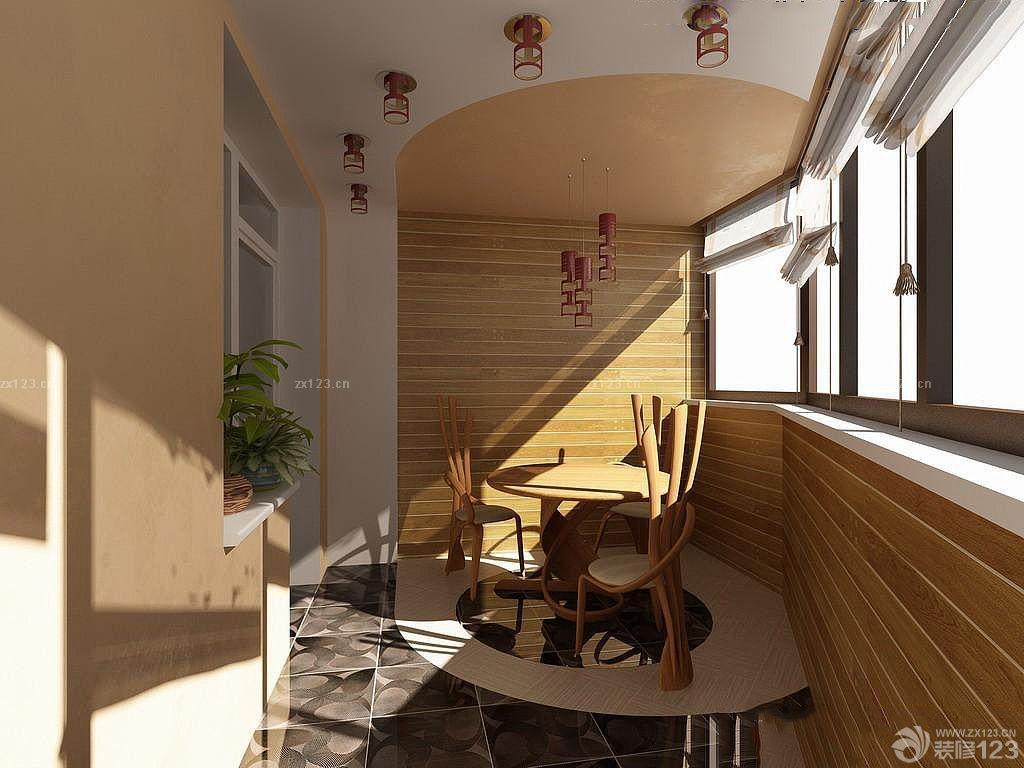 创意家居阳台休闲桌椅设计装修效果图大全2015图片