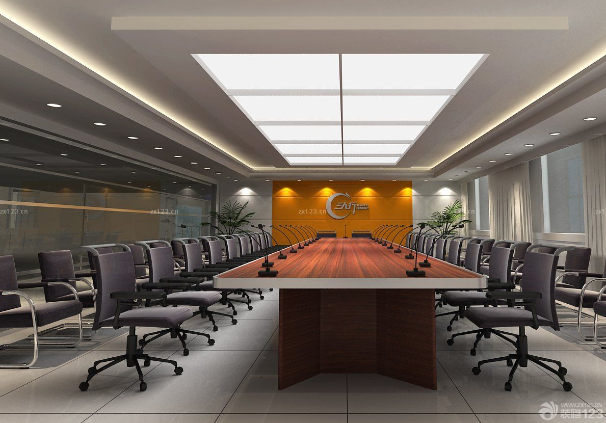 写字楼创意办公室装修设计效果实景图图片
