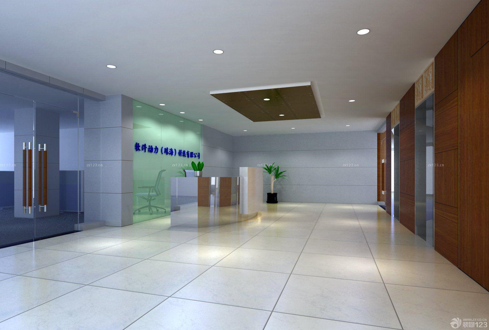 写字楼大厅设计效果图图片