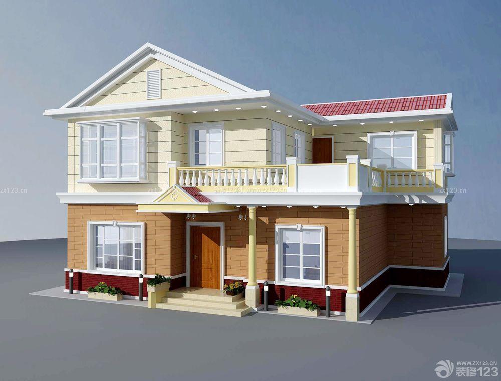 大型别墅设计半顶式琉璃屋顶效果图片