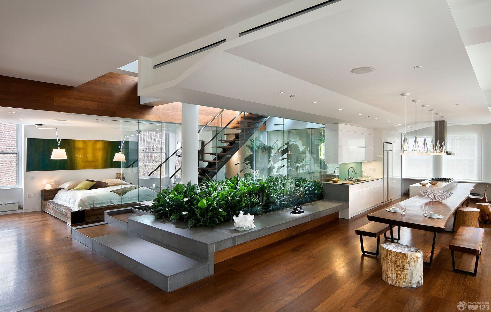 楼中楼楼梯扶手装修小户型设计效果图