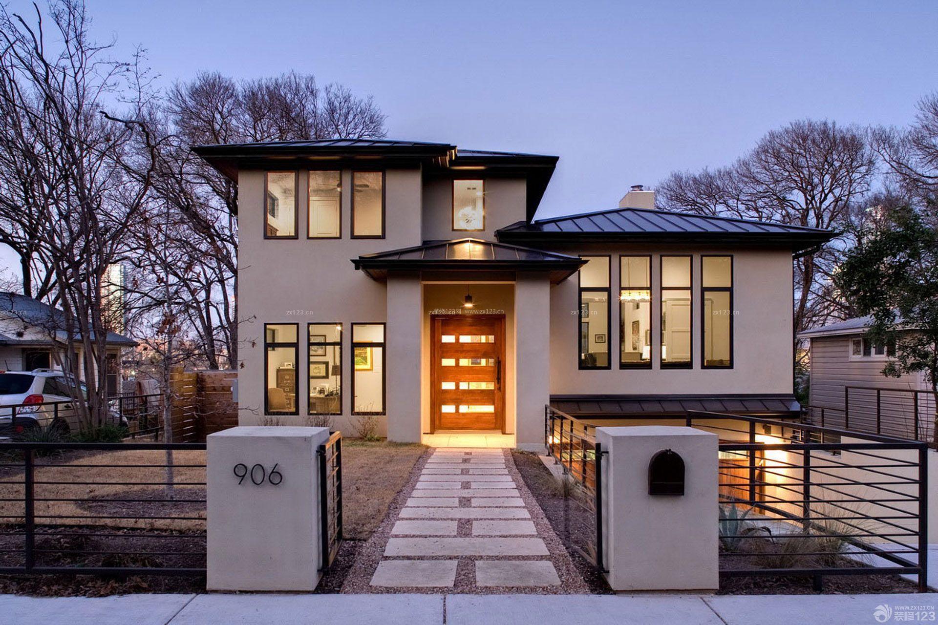 美式别墅装修效果图片大全外景二层