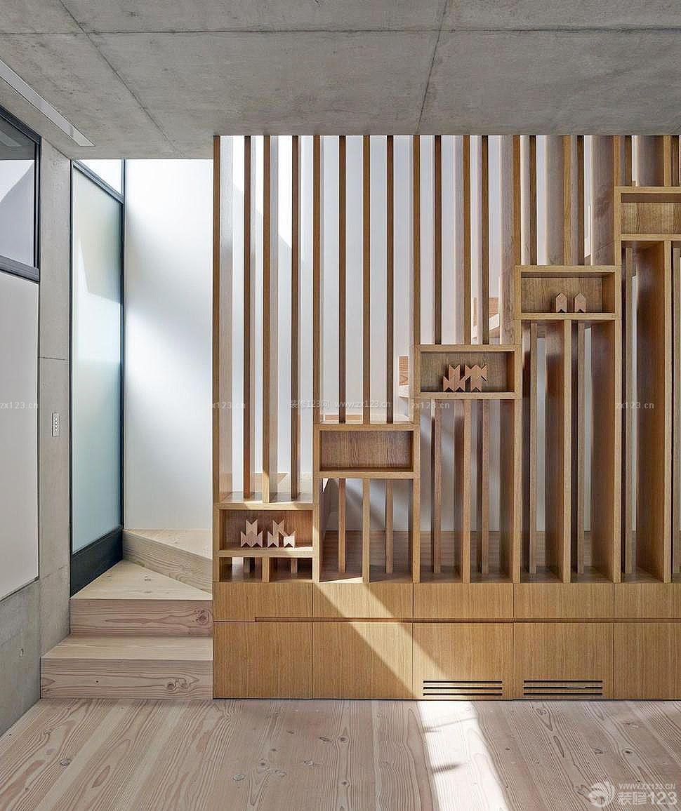 小户型室内楼中楼创意楼梯扶手装修设计图_装
