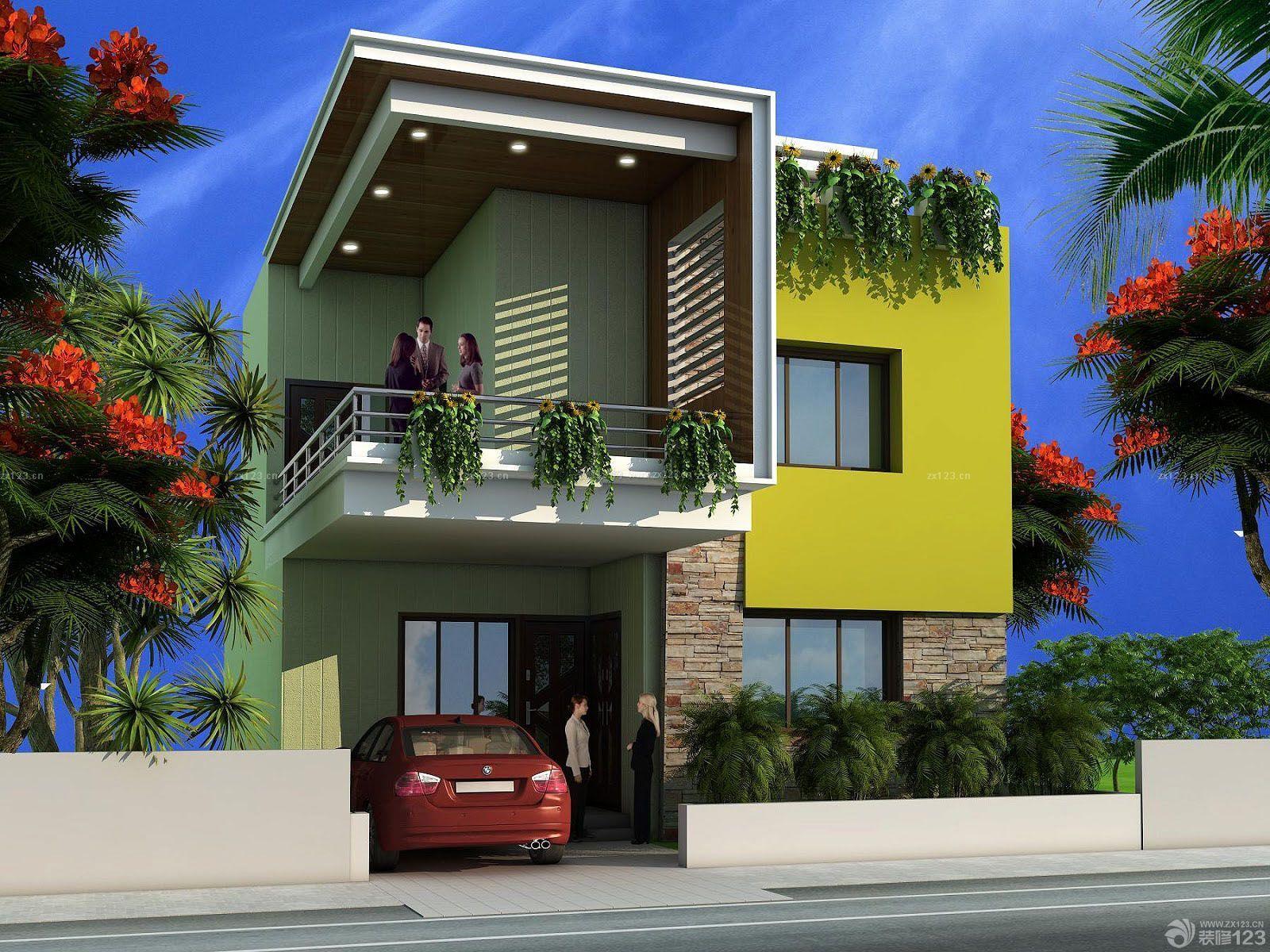 小型独立别墅设计图片大全外景二层