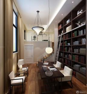 樓中樓樓梯扶手裝修設計圖 現代中式風格