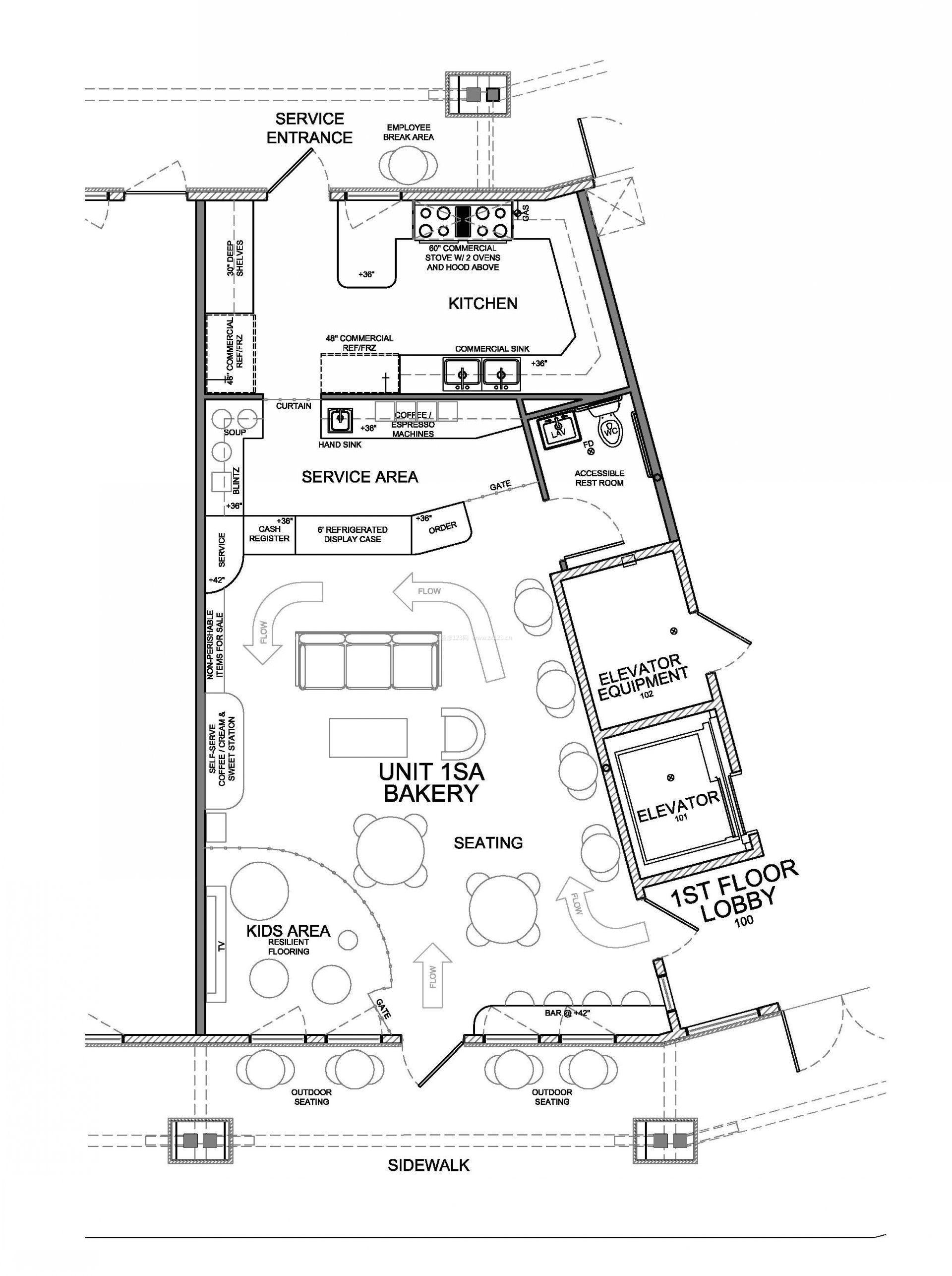 专卖店室内设计平面图