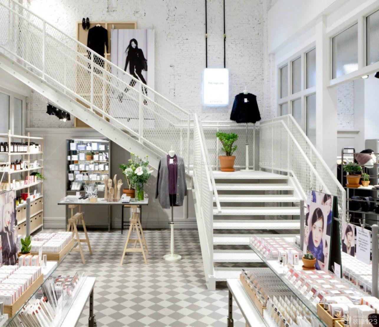 服装专卖店室内楼梯装修图片大全_装修123效果图