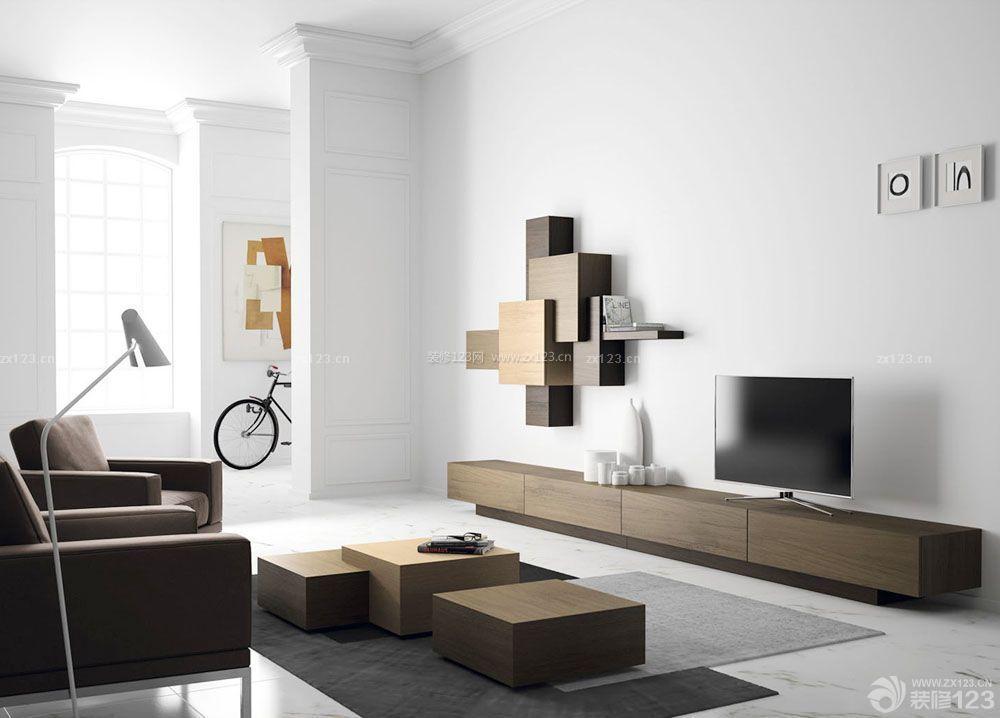 现代客厅装修白色墙角线效果图片