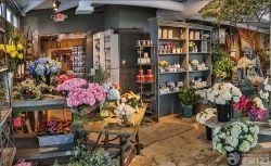 简约鲜花店石材地面装修效果图片图片