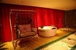情侶酒店室內秋千椅設計效果圖