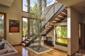 室內樓梯扶手圖片大全 不銹鋼樓梯扶手圖片
