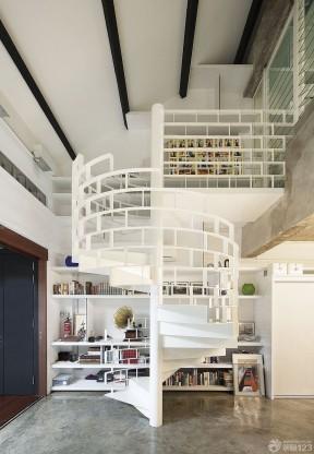 室内旋转楼梯扶手-装修123网效果图大全