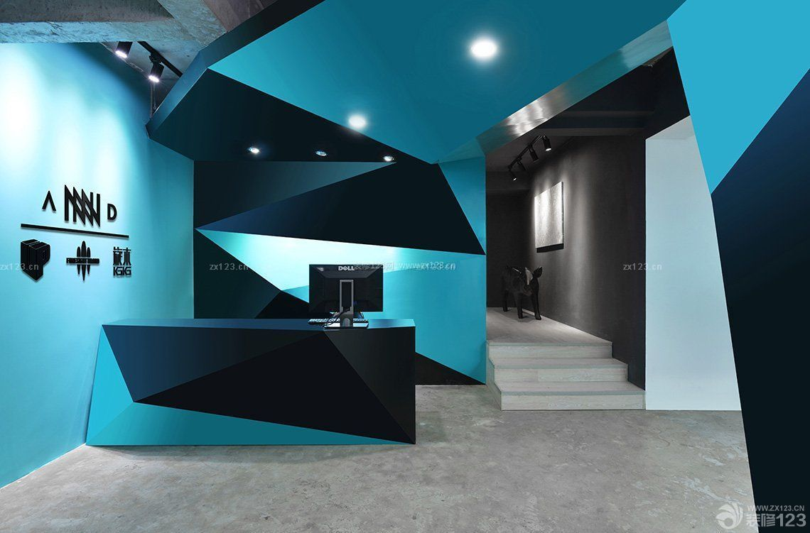 创意写字楼前台装修设计效果图图片
