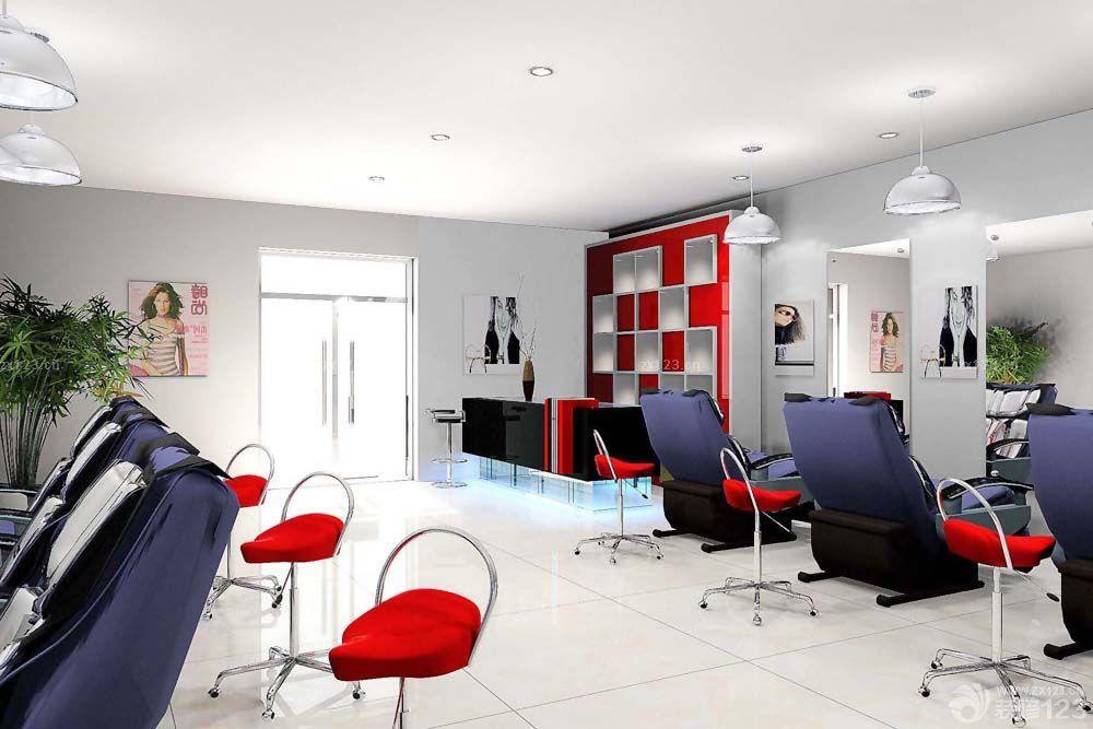 35平方理发店墙面设计装修效果图片