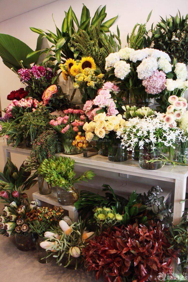 时尚鲜花店橱窗陈列装修图片图片