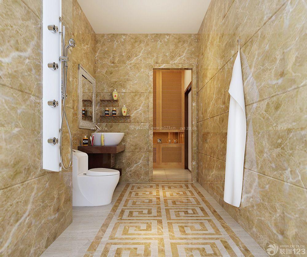 宾馆小卫生间马桶背景墙设计装修图片