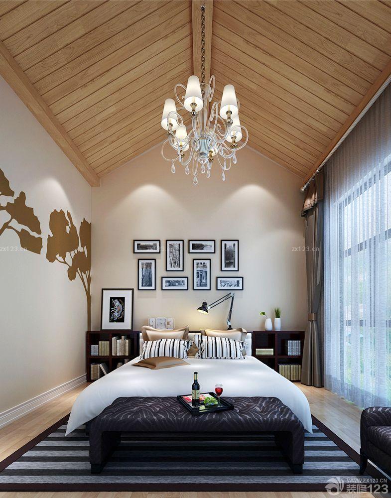 现代农村最实际小洋房木质吊顶装修效果图片