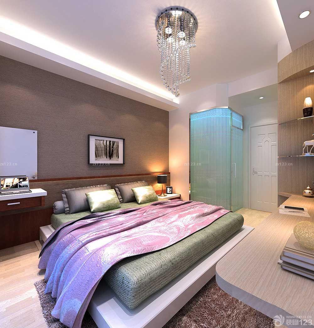欧式卧室硅藻泥背景墙装修效果图片