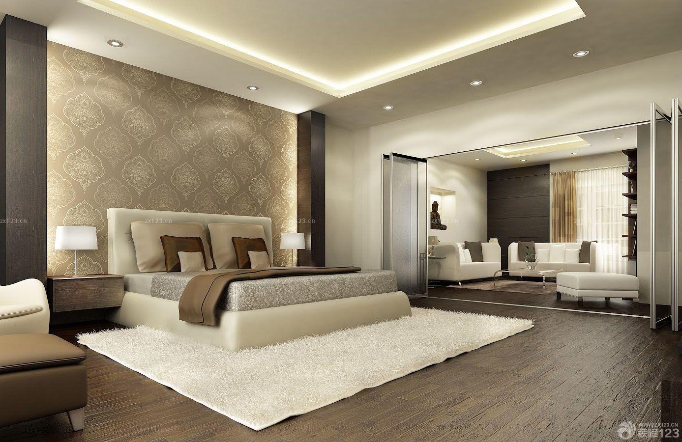 家装卧室欧式硅藻泥背景墙装修效果图片