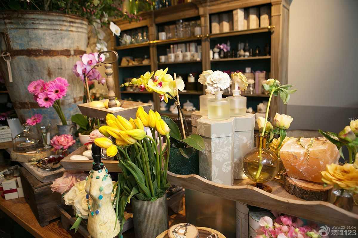 小型花店陈列设计装修效果图图片