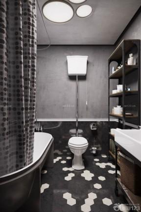 简约卫生间装修效果图 黑白风格装修效果图