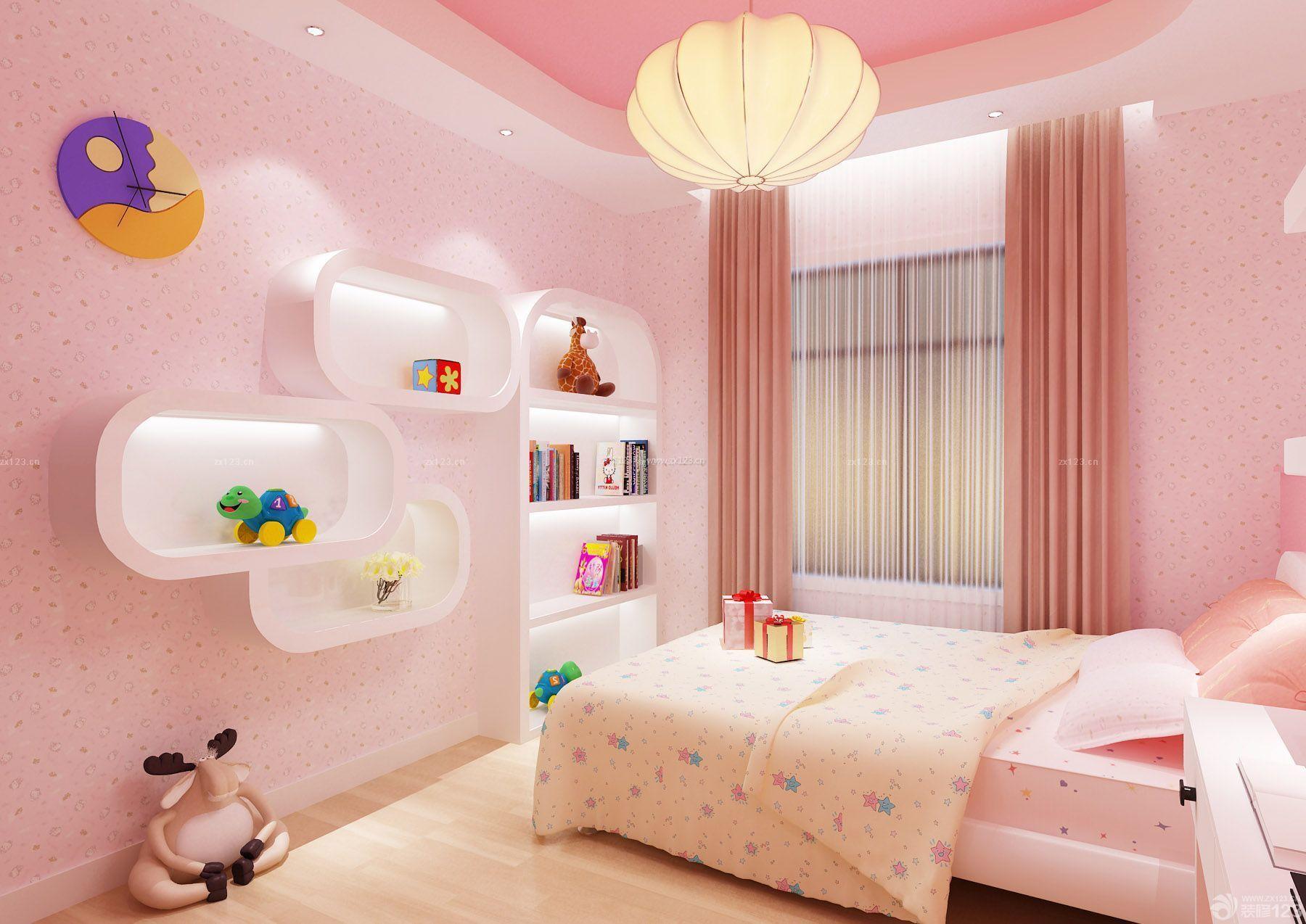 现代北欧风格儿童卧室窗帘装修效果图图片