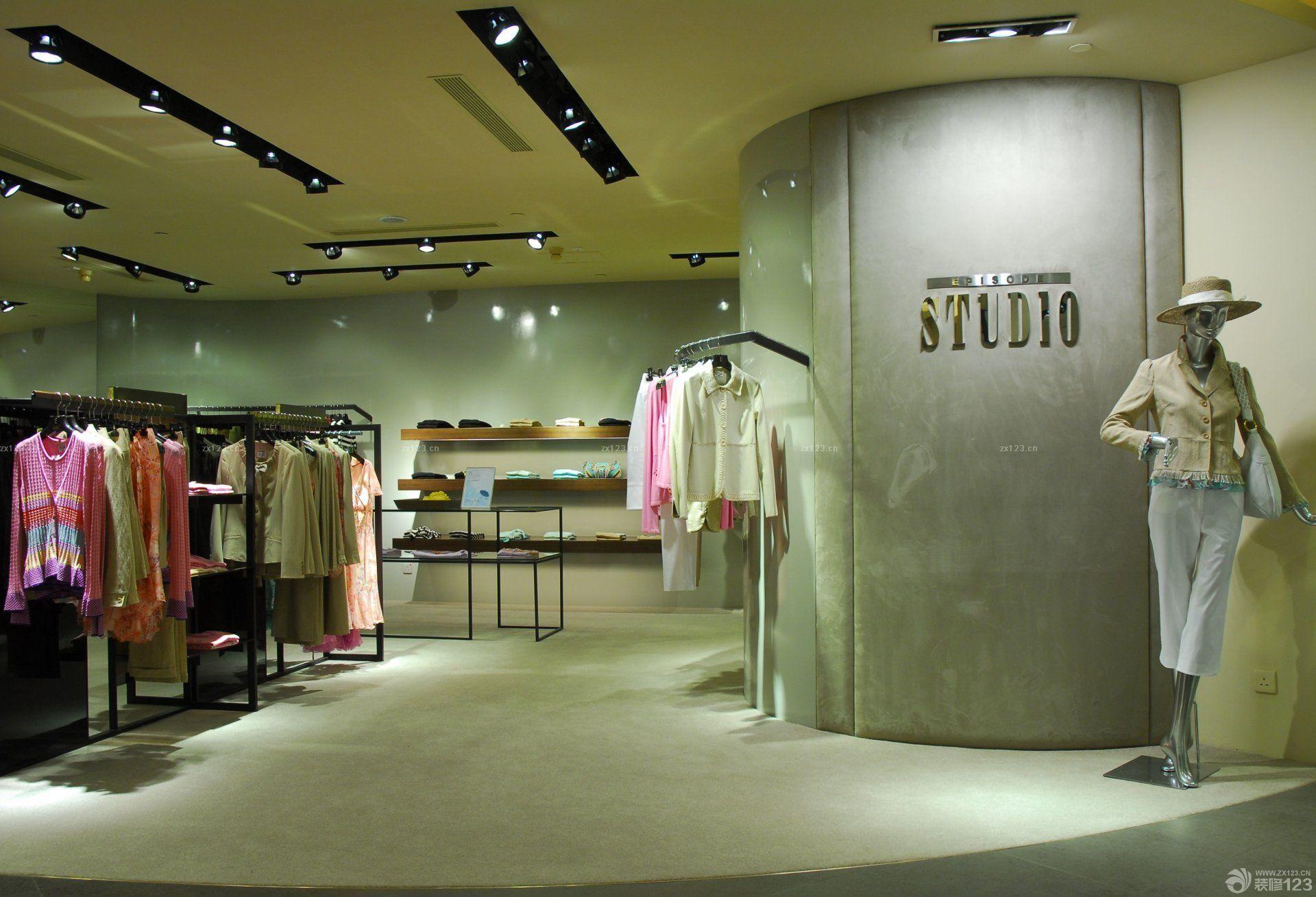 最新服装店logo形象墙装修效果图图片