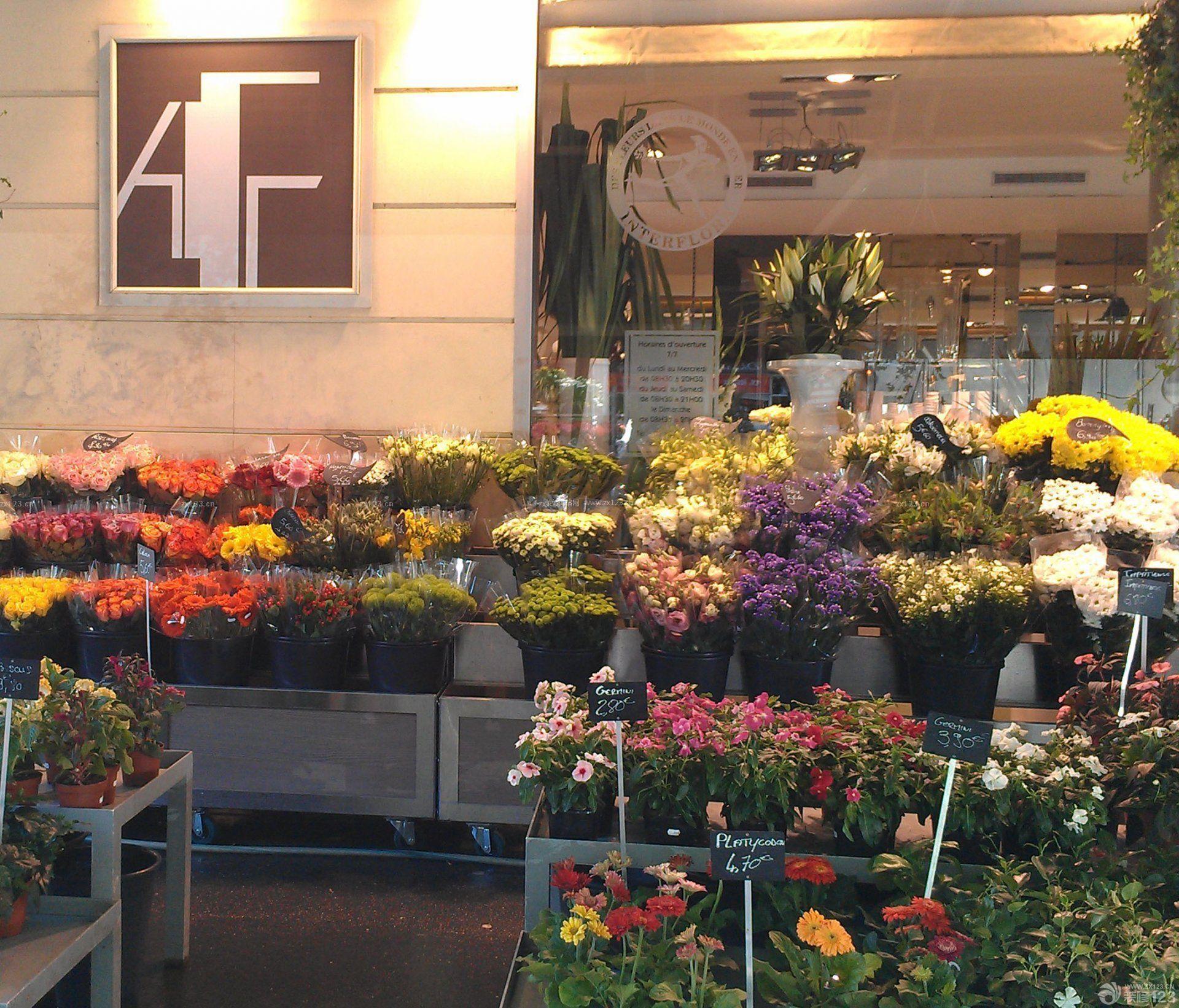 国外花店不锈钢花架设计效果图片图片