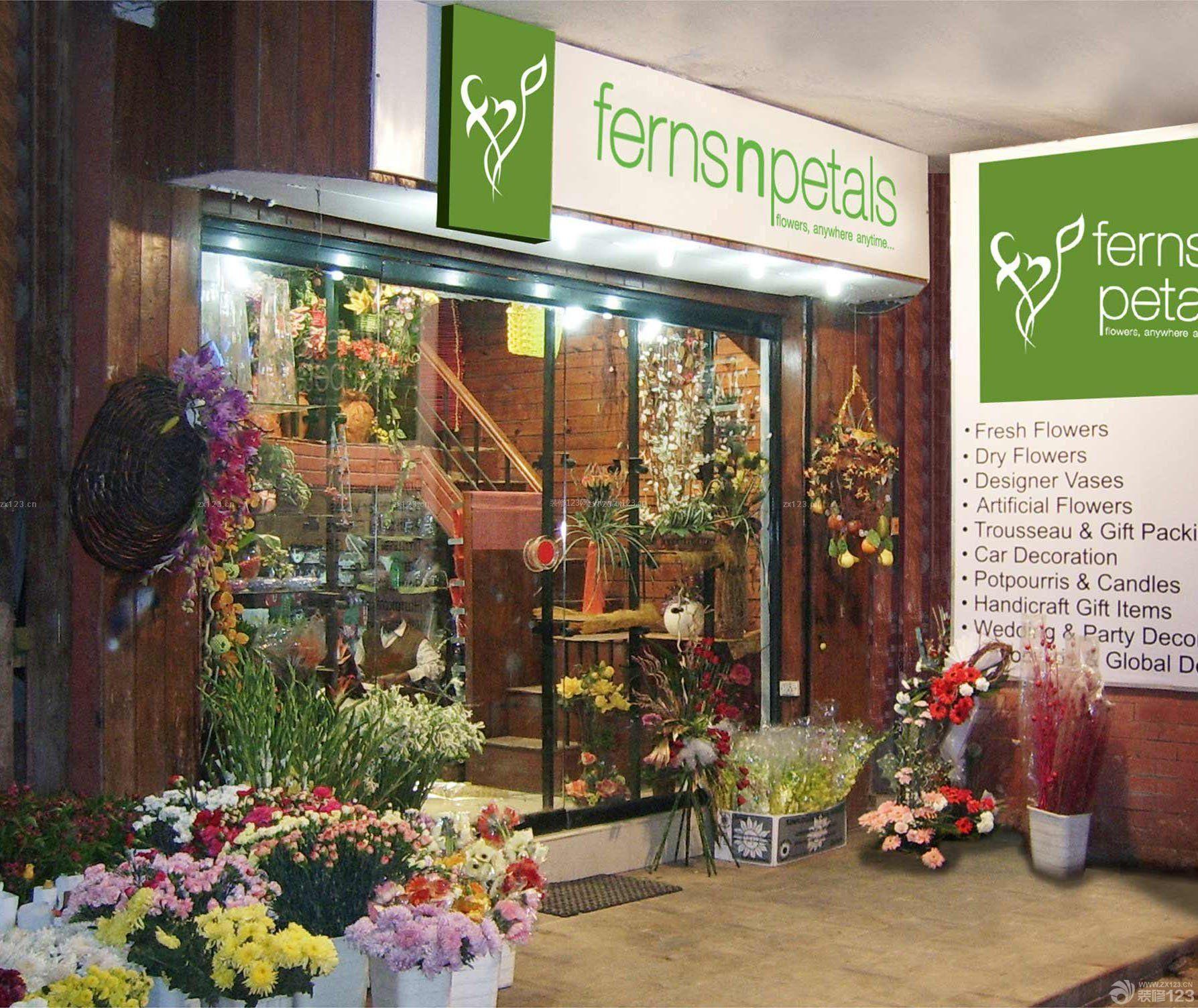 国外花店玻璃门装修效果图片图片