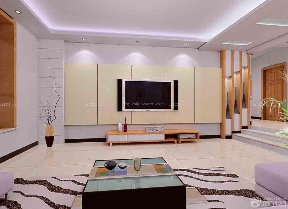现代简约家装客厅吊顶效果图大全2015图片