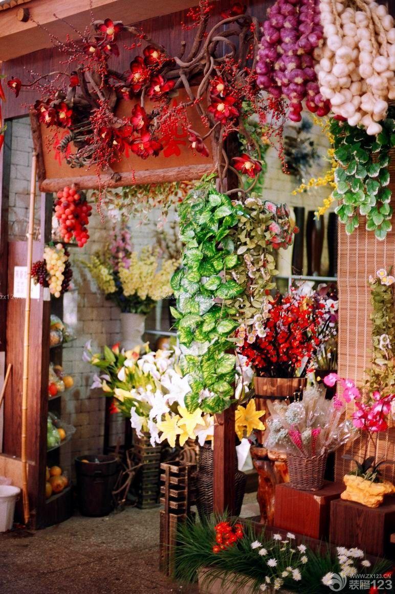 鲜花店门头设计装修效果图片大全