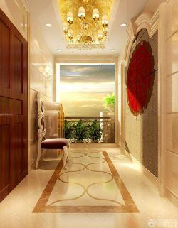 欧式风格走廊玄关装饰效果图