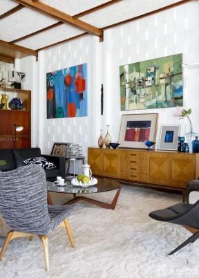 客廳顏色搭配 130平米簡單裝修設計圖