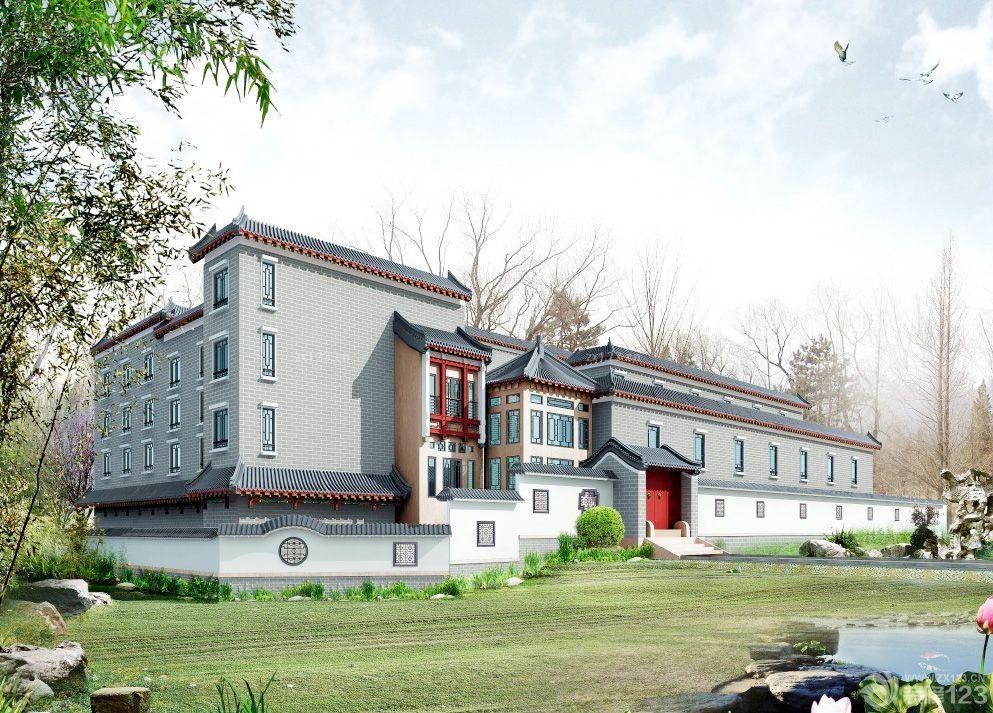 新中式别墅围墙图片