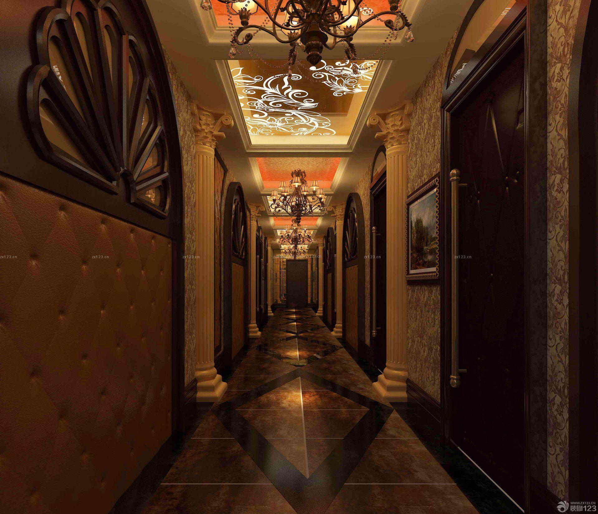 欧式风格ktv走廊设计效果图片