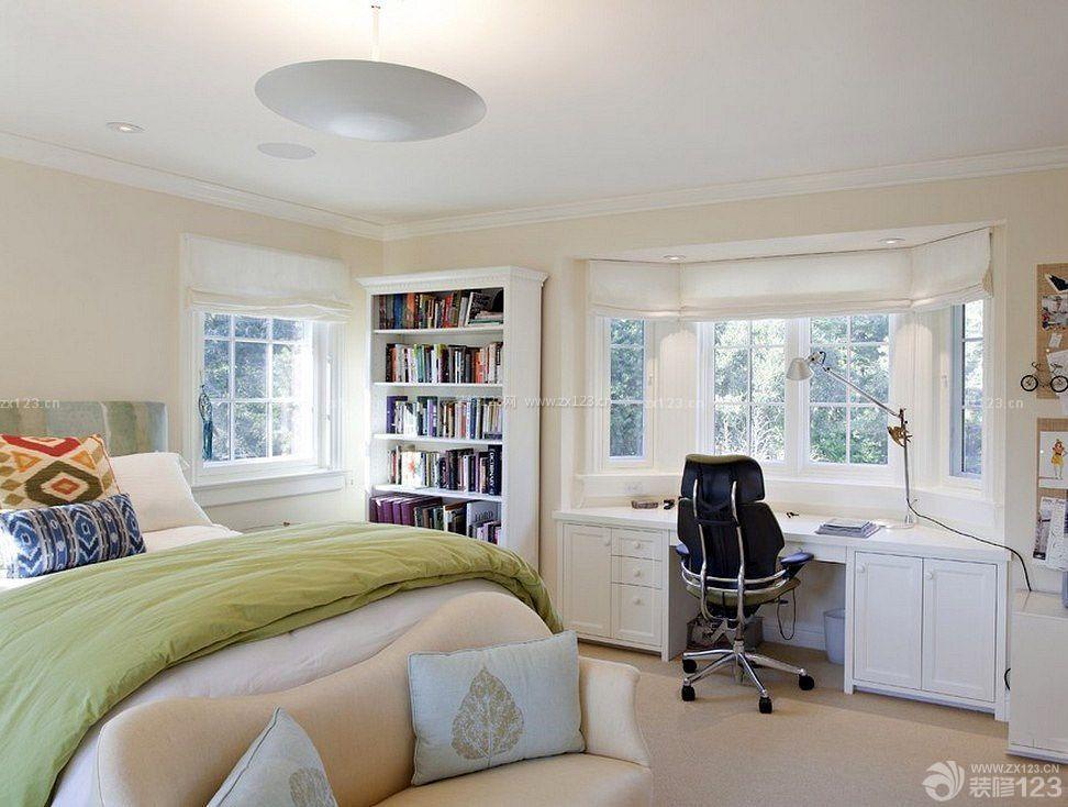 欧美小公寓家庭厨房装修全景内饰图