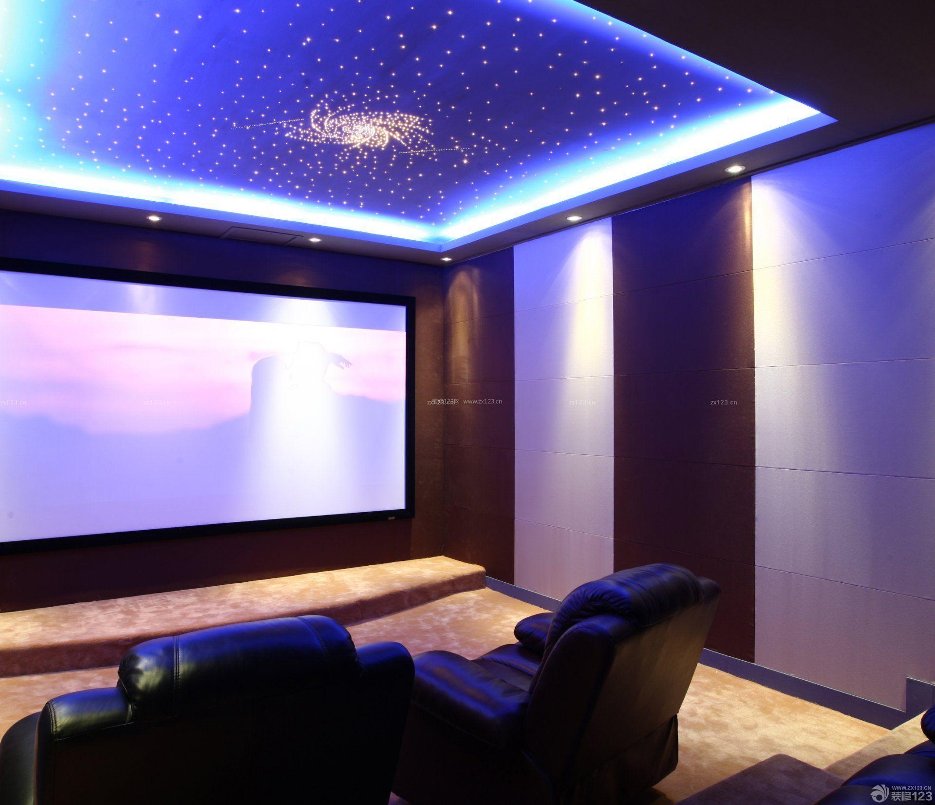 家庭ktv天花板设计效果图片欣赏_装修123效果图
