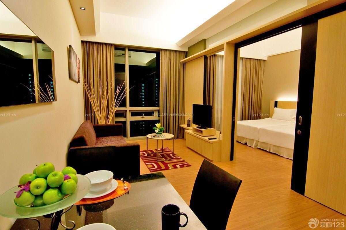 酒店式公寓原木地板装修效果图片